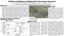 Politics and Equity in Collaborative Governance Processes